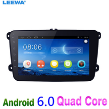 "8"" 8inch Ultra Slim Android 6.0 Quad Core Car Media Player With GPS Navi Radio  For VW Golf 5/6/Polo/Passat/Jetta/Tiguan/Touran"
