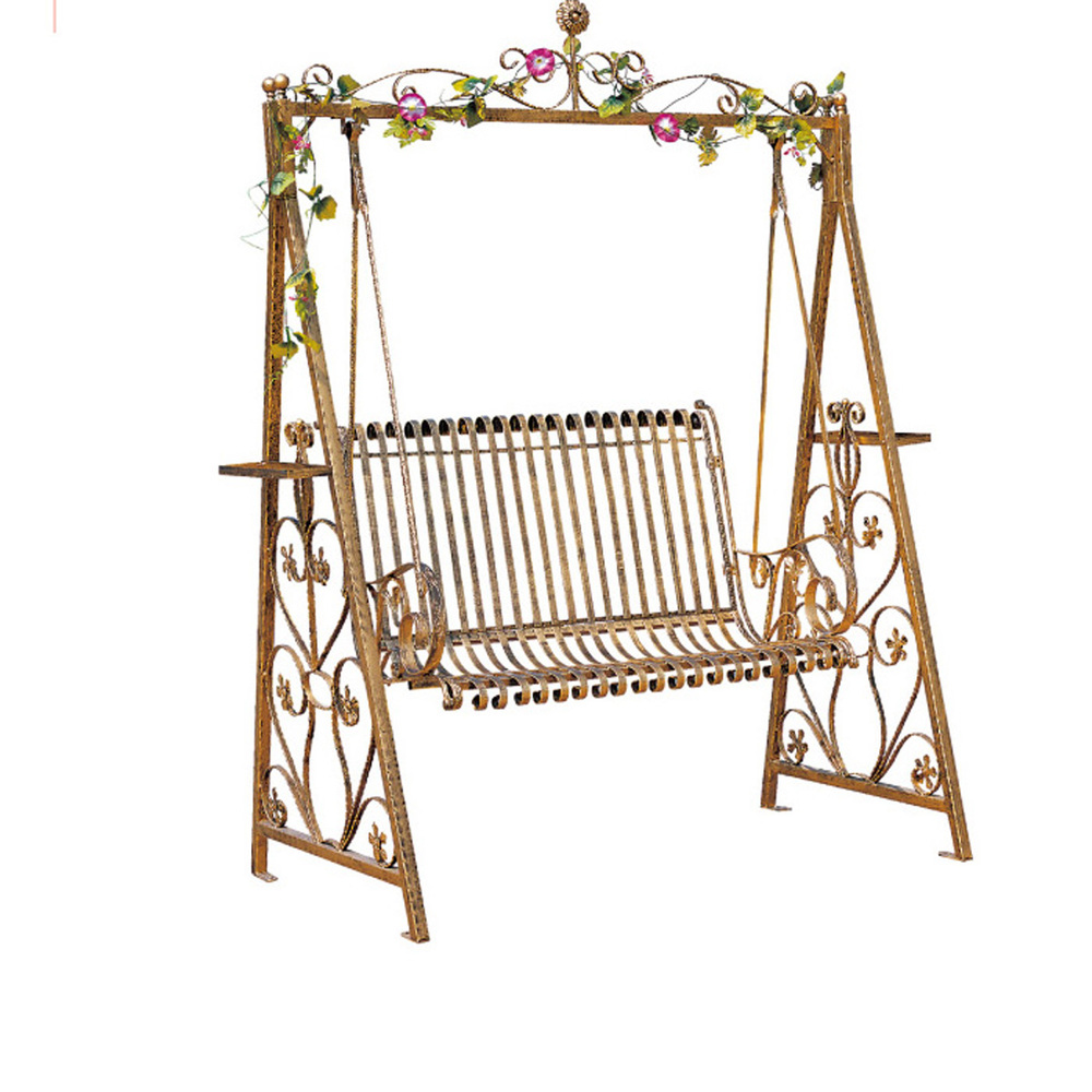 Outdoor Wrought Iron Swing Double Rocking Chair Lifts Gondola Park