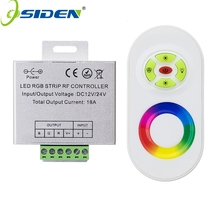 OSIDEN DC 12V-24V Wireless RF Touch Panel Dimmer RGB Remote Controller 18A RGB Controller for 3528 5050 RGB LED Strip Light(China)