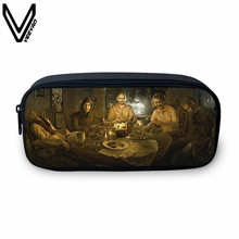 VEEVANV 2017 New Design Resident Evil Games Biohazard Printing Make Up Bags Fashion School Case For Students Coin Purse Bags