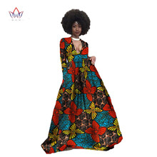 African Print Dresses Brand Vestidos Longo Bazin Riche Vintage Dress Sexy Plus Size Estidos De Festa Stripped Dress 6xl WY349(China)