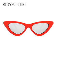 ROYAL GIRL Designer Women Sexy Cat eye Sunglasses modern retro Sun glasses Shades for lady(China)