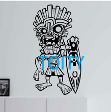 Tiki Surfer Hawaii Vinyl Wall Decal Sticker Art Decor Bedroom Design Mural H107cm x W57cm