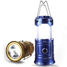 Wissblue Solar Rechargeable USB Tactical Flashlight Portable Lantern Handy Tent Light for Spotlight Hunting Camping Tent Light(China)