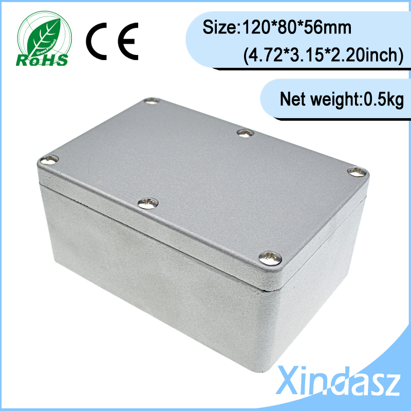 Sealed cable junction box power supply enclosure outdoor junction box ip68 aluminum waterproof enclosure 120*80*56mm<br>