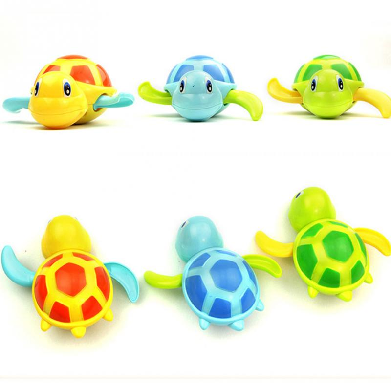 Essential-Random-Color-New-born-babies-swim-turtle-wound-up-chain-small-animal-Baby-Children-bath