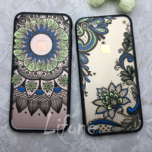 Retro Relief Lotus Mandala Rose Henna Flower Case For iPhone 7 6 6S Plus Butterfly Flower For iPhone 6 7 6S Lace Cover Back Capa