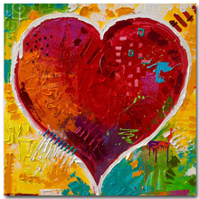 2017 Children printed painting abstract contemporary painting wall decoration red heart picture for living room decoration