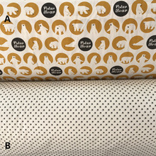 160cm*50cm bear brown bedding cotton fabric infant bedding linens baby cloth pillow curtain diy quilt sewing tissue tecido