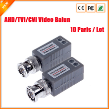 CCTV Twisted BNC 1Channel Passive TVI CVI AHD Video Balun Transceiver 10Pairs/Lot  COAX CAT5 Camera UTP Cable Coaxial Adapter