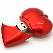 free shipping 10 pack 16gb 8 gb bulk novelty red stick heart shaped usb flash drive love(China)