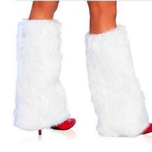 3Color Sexy Faux Fur Leg Warmers Rave Fluffies Lady Boot Cover Santa Christmas(China)
