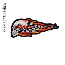 Harley Patch Flamme Skull Patches Embroidered Iron On Motorcycle Patches For Jackets