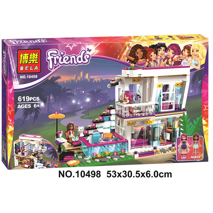 Bela 10498 Friends Series Livis Pop Star House Building Blocks Andrea s Friends 41135 toys for children gift<br>
