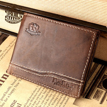 Ruil The New! 2017 really crazy horse leather men's wallet short wallet men's fashion crazy horse wallet thin wallet