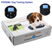 Rechargeable And Waterproof LCD 100LV Shock + Vibra 300M Remote Control Dog Training Collar Pet Products For 2 Dogs