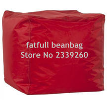 COVER ONLY NO FILLER - Red fashion cute bean bag pouf ottoman , stool chairs
