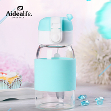 lemon eco friendly glass water bottle 300ml    kids juice water bottle  thermal cooler  Motivate gift promotional items