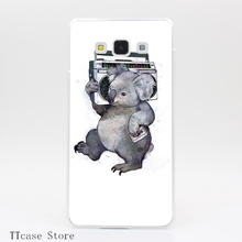 1975CA Koala Transparent Hard Cover Case for Galaxy A3 A5 A7 A8 Note 2 3 4 5 J5 J7 Grand 2 & Prime