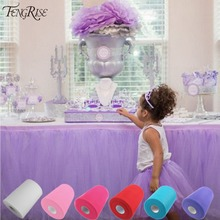 FENGRISE Tulle Roll 15cm 100 Yards Roll Fabric Spool Tutu Party Gift Wrap Wedding Birthday Decoration Decorative Crafts Supplies(China)