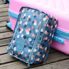 New Portable Waterproof Folding Storage Bag Nylon Travel Shoe Bag Breathable Shoes Bags