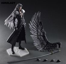 Play Arts Final Fantasy Figure Final Fantasy VII Sephiroth Figure PA Play Arts Kai Cloud Strife 27cm PVC Action Figure Doll Toys(China)