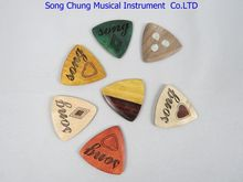 7Pcs different colors of SONG Guitar Picks, Maple rosewood solid wood #629