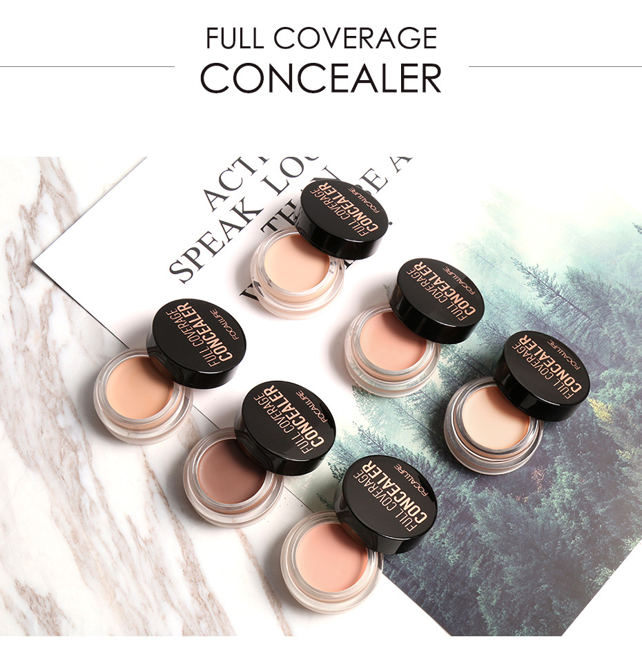 FOCALLURE 7 Colors Full Cover Concealer cream Makeup Primer Cover Foundation Base Lasting Oil Control Cream Concealer 9