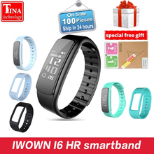 IWOWN I6 HR smartband Heart Rate Monitor Smart bracelet Sport Wristband Bluetooth 4.0 Smart Band Fitness Tracker for IOS Android(China)