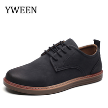 Buy YWEEN 2018 Spring Men Casual Shoes Breathable British Leather Shoes Man Flat Shoes for $20.88 in AliExpress store