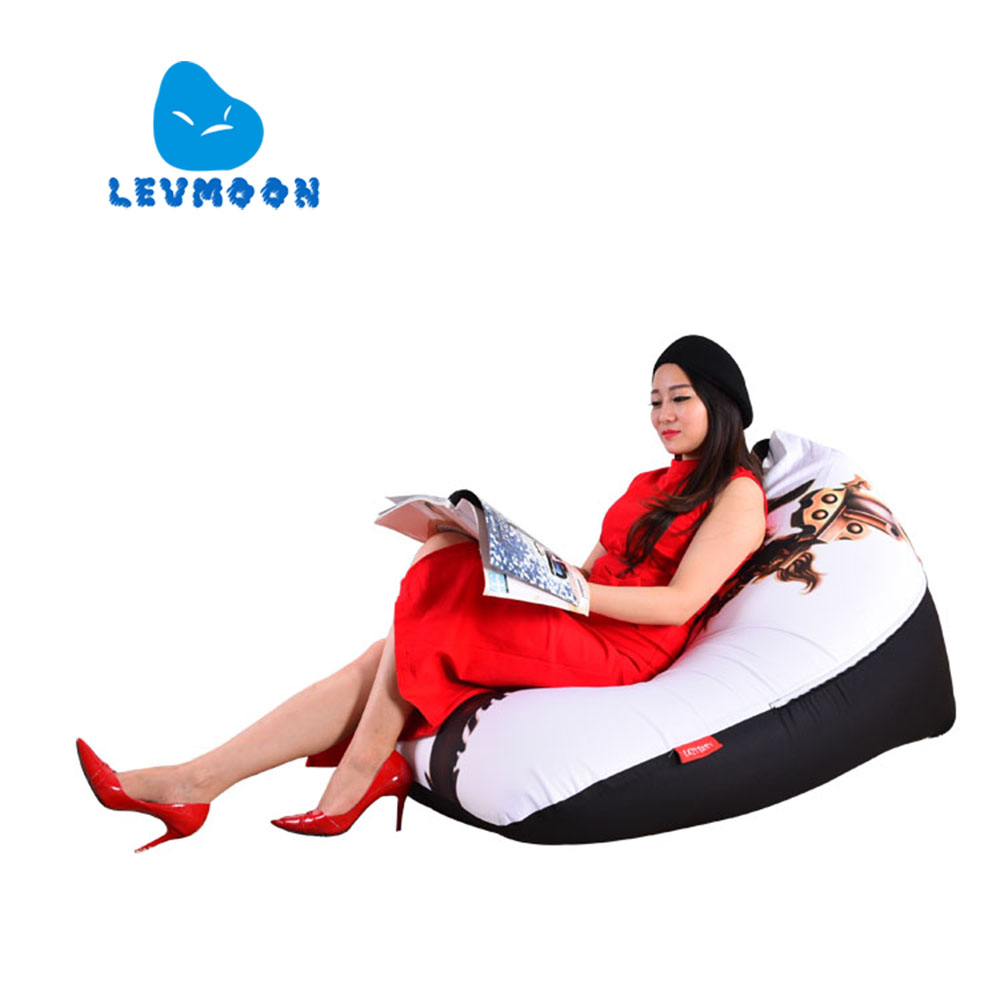 LEVMOON Beanbag Sofa Chair Musketeers Seat Zac Comfort Bean Bag Bed Cover Without Filler Cotton Indoor Beanbag Lounge Chair<br>