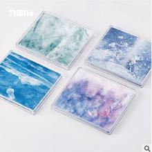 New Creative Fashion vein watercolour Paper Wallets Waterproof Purse Foldable Bifold Wallet For Men Women environmental supply(China)