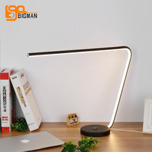new brief style LED table light modern desk lamp eye protection touch switch reading room lighting