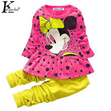 KEAIYOUHUO Children Clothing Tracksuit For Girls Sport Suit Costume Kids Clothes Sets Cartoon Baby Girl Clothes Sets Outfit Suit