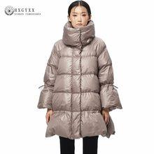 2019 invierno chaqueta acolchada ropa de mujer Collar Slim pato blanco  abajo Parka pluma de ganso abrigo cálido vestido de prend. 6231dfd32654