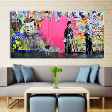 Pink Loves Pop Art Oil Paintings Canvas Painting Andy Warhol Wall Art Pictures Cuadros Home Decoracion For Living Room