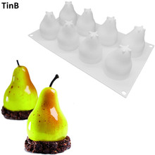 Pear Shape Silicone Molds Cake Decorating Tools Bakeware French Dessert Mousse Cake Mold Baking Cupcake Mousse Silicone Mould