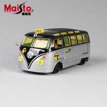 1/24 Scale kids VW Volkswagen Samba mini bus tax refitted Diecasts & Toy Vehicles cars styling metal model toy for children 2017