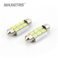 5Pcs/lot Festoon CANBUS 31/36/39/41mm C5W 5630 6 LED Smd Interior White LED Dome Reading Light Roof Bulbs Light Sourcing(China)