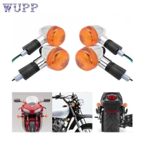 New Arrival  4x Amber Chrome Bullet Front Rear Turn Signal Blinker Indicator Light Motorcycle