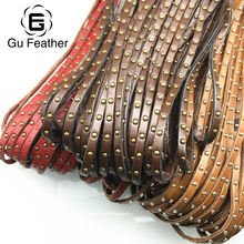 GUFEATHER 5MM PU Rivet leather cord/jewelry accessories/jewelry findings/diy accessories/jewelry making supplies