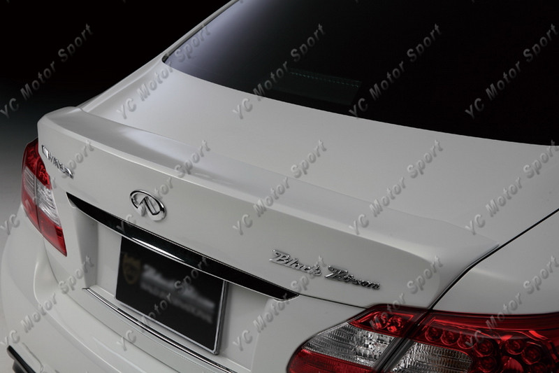 2011-2013 Infiniti M Series Sedan Nissan Fuga Y51 Wald Sports Line Black Bison Edition Style Trunk Spoiler FRP (7)