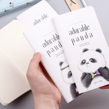 Cute Lovely Kawaii Cartoon Little Adorable Panda Portable Thin Notebook Notepad Diary Book Students Gift School Supply(China)