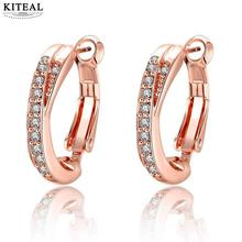2017 new Accessories para mulher earings AAA zircon small circle U hoop earrings for women boucle doreille femme jewellery