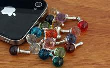 10PCS  Fashion and Popular 10mm AB Clay Ball Dust Proof Plug Mobile Phone Jewelry  Wholesale price $0.45