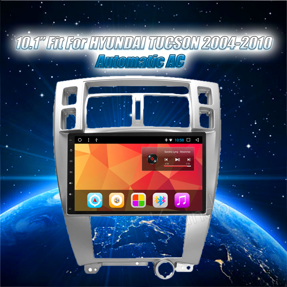 Krando Android car radio gps navigation multimedia system for Hyundai TUCSON 2004 2005 2006 2007 2008 2009 2010