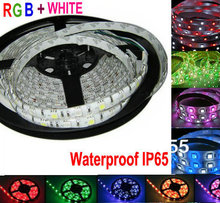 5M RGBW SMD5050 Flexible Led Strips Rope lighting RGB+W white waterproof IP65 12V 60LED/M tape light Home Christmas holiday lamp(China)