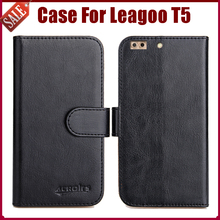 Hot Sale! Leagoo T5 Case New Arrival 6 Colors High Quality Flip Leather Protective Phone Cover For Leagoo T5 Case