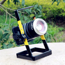 Lightme 10W LED Floodlight 1000LM T6 LED Flashlight 3 Modes Rechargeable Portable Lamp Waterproof Fishing 18650 LED Light Torch