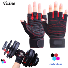 Tnine Free Shipping Body Building Fitness Gloves & Mitten Equipment Weight lifting Workout Exercise breathable Wrist Wrap Gloves